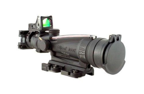 Acog Trijicon Dual Illuminated Red Horseshoe Rifle Scope With 9.0 Moa Rmr Sight And Larue Tactical Mount