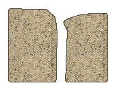 Toyota Highlander Berber Floor Mats 2 Pc Fronts - Beige (2001 01 2002 02 2003 03 )