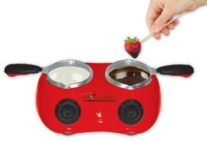 Total Chef CM20G Deluxe Chocolatiere Electric Fondue with Two Melting Pots (Red) (Fondue Dual compare prices)