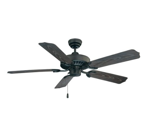 Savoy House 52-Sgo-5Cn-Fb Lancer 52-Inch Ceiling Fan, Flat Black Finish With Outdoor Rated Chestnut Blades
