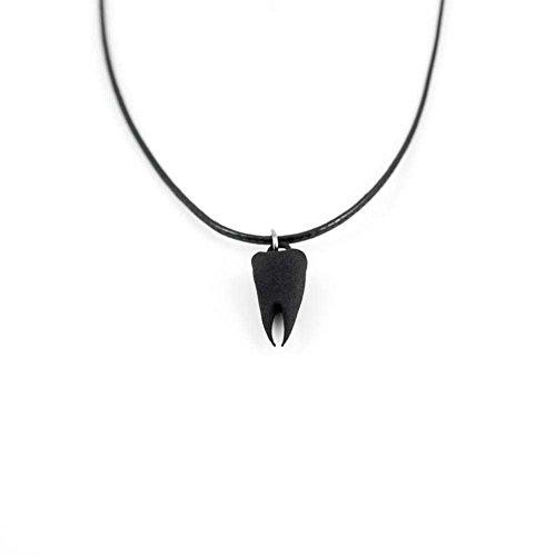 La canaglia e il lupo-in Nero-3d stampato girocollo denti gotico gioielli