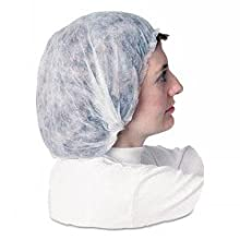 "Impact 7387W24 Spunbonded Polypropylene Non-Woven Bouffant Cap, 24"" Diameter, White (10 Bags of 100)"
