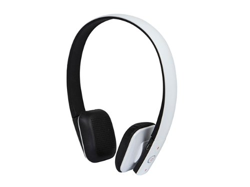 Monoprice Bluetooth Hi-Fi On-The-Ear Headphones With Built-In Microphone, White