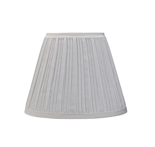 Aspen creative 33006 pleated hardback shaped spider shade in off white home garden lighting - Creative lamp shades ...