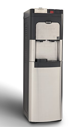 Estratto Commercial Single Cup Coffee Maker & Self Clean Stainless Steel Water Cooler