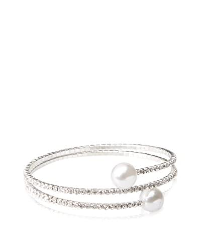 Chloe by Liv Oliver Crystal & Pearl Fashion Wrap Bracelet