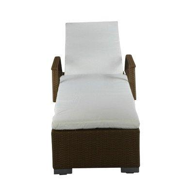 Liege mit Sitzauflage Farbe (Gestell): Braun günstig kaufen