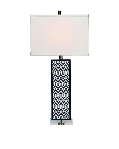 City Scape Clarendon Lamp, Navy/White
