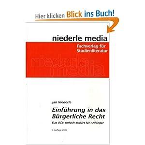 eBook Cover für  Einf xFC hrung in das B xFC rgerliche Recht Das BGB leicht erkl xE4 rt f xFC r Anf xE4 nger