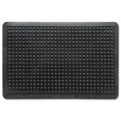 Doortex Anti-fatigue Mat Rubber Textured Anti-slip Bevelled-edge 610x910mm Bubble Pattern Ref FCAF6191