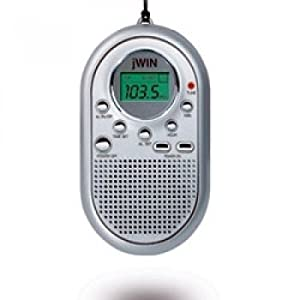 jwin pocket radio alarm clock built in speaker jxm10 ebay. Black Bedroom Furniture Sets. Home Design Ideas