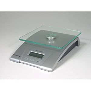 Starfrit 093016 Electronic Kitchen Scale with Glass Top