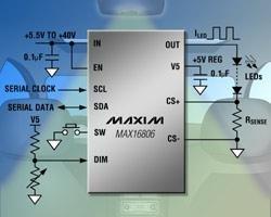 Led Lighting Drivers Eeprom-Prog 350Ma W/Current Foldback (1 Piece)