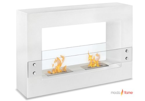 Moda Flame Alcoi Contemporary Indoor Outdoor Ethanol Fireplace In White image B00C9JMXL4.jpg