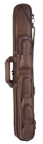 Pro Series LC4 Premium Soft Brown Leather Pool Cue Case, Brown