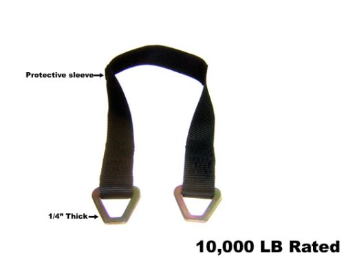 Auto Car hauler Tie Downs Ratchet Axle Straps 4 36