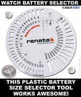 Jewellers Tools Watch Battery Size Measure Gauge Chart For Watches Repair Replace Tool
