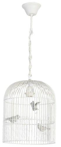 Clayre & Eef, Vogelhaus Cottage Lampe weiss