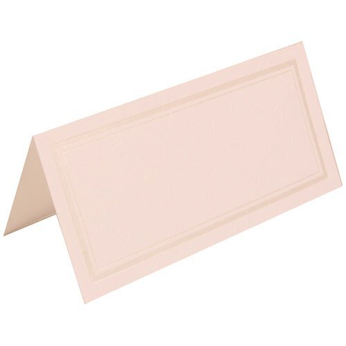 Jam Paper® - White With Ivory Double Border Foldover Table Place Cards 2 X 4 1/2 - 100 Cards Per Pack front-1016952