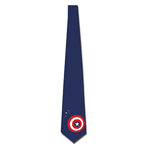 HANDSOMEFEEL Captain America Shield Neck Suits Tie Skinny Tie