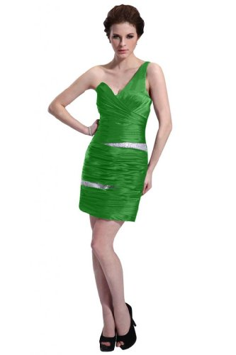 31nxa3kBj2L Special Offers: Emma Y Lady Womens One Shoulder Sheath Short Dress