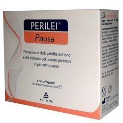 Angelini Perilei Pausa Crema Vaginale per il Tono Perineale - 10 Tubetti Monodose