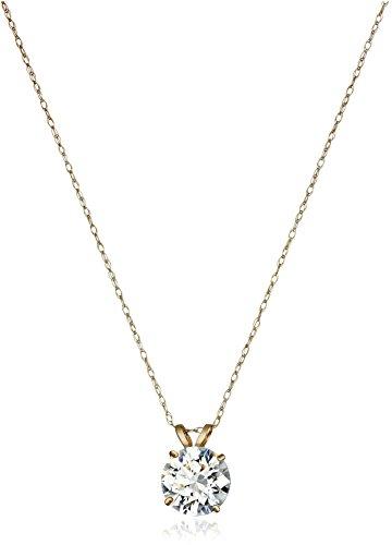 10k-Gold-Solitaire-Swarovski-Zirconia-Pendant-Necklace-2-cttw-18