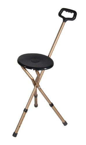 Drive Medical Folding Lightweight Adjustable Height Cane Seat (Folding Seat compare prices)