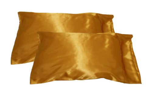 2pc New Queen/Standard Silk~y Satin Pillow Case Mu…
