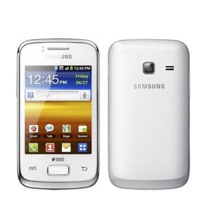 Samsung GT-S6102 Galaxy Y Duos Dual SIM Smartphone with Bluetooth, Wi-Fi, Android OS, HSDPA 850 / 2100 – Unlocked Phone – No Warranty – White
