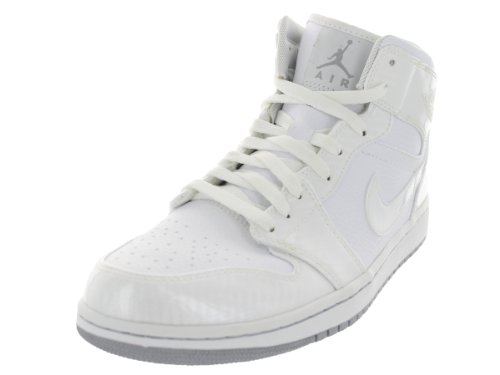 Images for Nike Air Jordan 1 Phat Mens Basketball Shoes White/Wolf Grey-White 364770-102-11