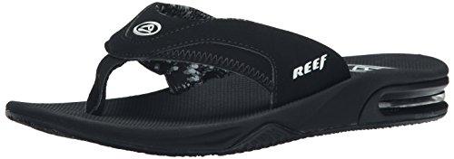 Reef Women's Fanning Flip Flop, Black, 8 M US