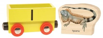 Wooden Alphabet Train : I (Iguana) - Buy Wooden Alphabet Train : I (Iguana) - Purchase Wooden Alphabet Train : I (Iguana) (Wild Republic, Toys & Games,Categories,Play Vehicles,Trains & Railway Sets)