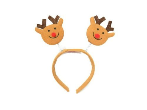 Christmas House Red-Nosed Reindeer Christmas Headband 9 In. - 1/pkg.