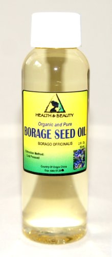 Borage Seed Oil Organic Carrier Virgin Gla-20% Cold Pressed Pure 2 oz