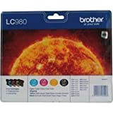 Originale Brother LC980BK / LC980C / LC980M / LC980Y Patronen Set