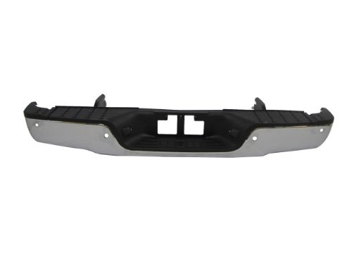 New Rear Step Bumper Chrome 2007-2012 Toyota Tundra With Sensor Holes Brackets Pad Assy (Not For Factory Towing Package) front-843714