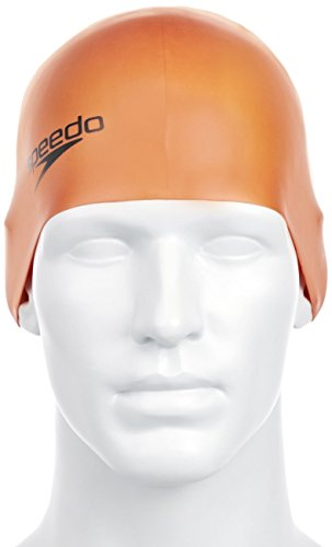 Speedo Silc Moud Cap Au - Cuffia, Colore Arancione (Orange)