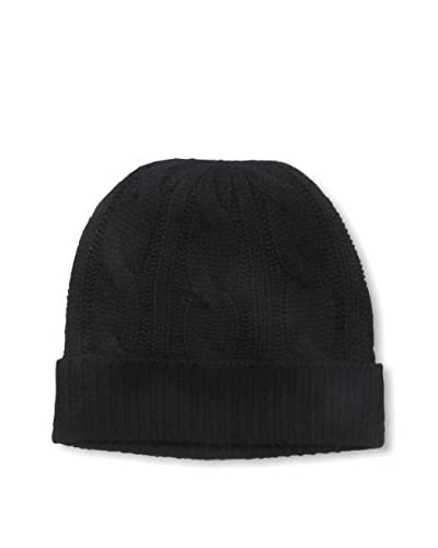 Sofia Cashmere Women's Cable Hat, Black