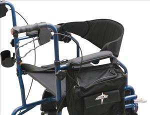 Medline Combination Rollator Transport Chair, Blue