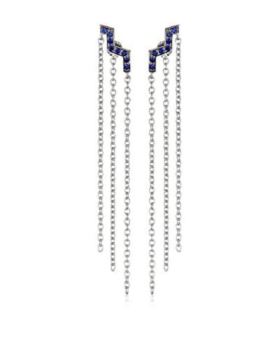 Elizabeth and James Erte Blue Chandelier Earrings