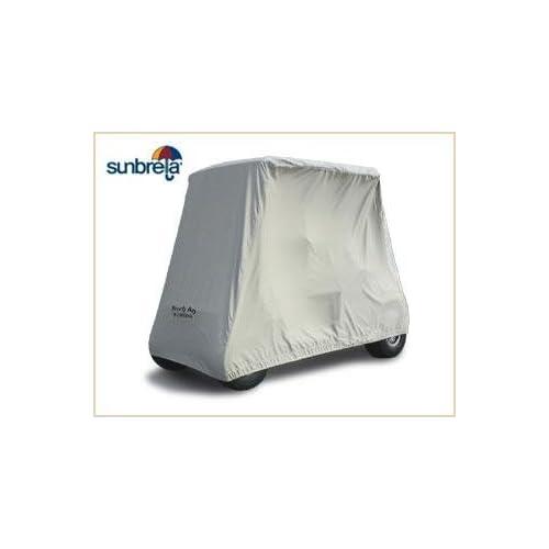 Gray Sunbrella 2 Passenger Golf Cart Storage Cover by