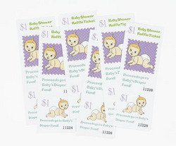 Baby Shower Raffle Tickets ~ Fun Game (pack of 24) - 1