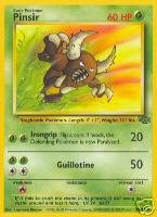 Pinsir # 25/64 - Jungle - Rare Pokemon Card - 1