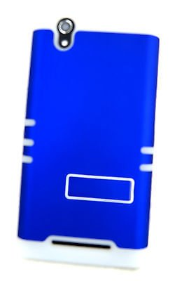 ZTE ZMAX Z970 Cover Case Blue With Glow Shock Resistant Hybrid 3 Piece from Phone Art