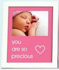Pearhead - sentiment frame - you are so precious - pink - 70174