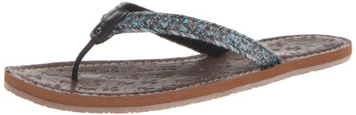 Brown Leather Flip Flops For Women front-699409