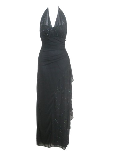 BETSY & ADAM BY LINDA BERNELL Sz 4P Black Cocktail dress Spaghetti