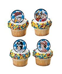 Speed Racer Movie Party Cupcake Rings 12 Pack