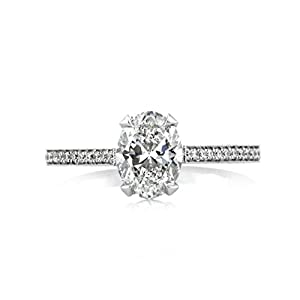 Mark Broumand 1.40ct Oval Cut Diamond Engagement Ring